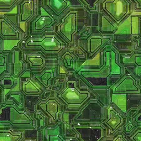 Printed Circuit Board Seamless Texture Tile Stock Photo