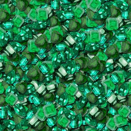 Emeralds Seamless Texture Tile Banco de Imagens