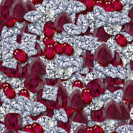 Diamonds and Rubies Seamless Texture Tile
