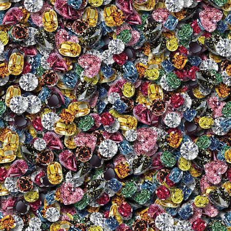 Mixed Gems Seamless Texture Tile Banque d'images