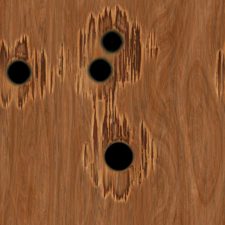 Bullet Holes in Wood Seamless Texture Tile