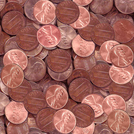 Penny Coins Seamless Texture Tile