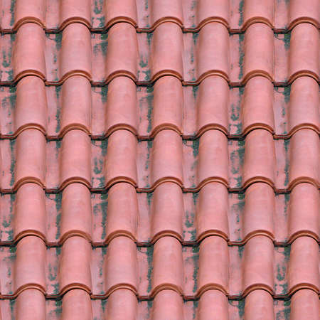 roof shingles: Spanish Tile Roofing Seamless Texture Tile
