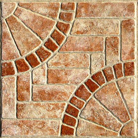 Radial Mosaic Pavers Seamless Texture Tile photo
