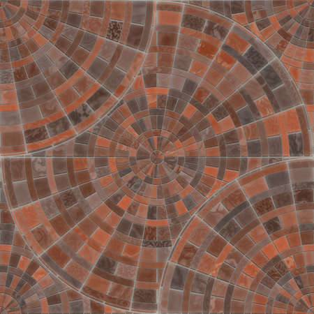 Radial Mosaic Pavers Seamless Texture Tile