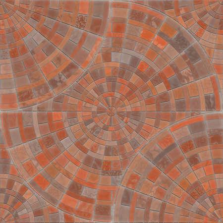 porches: Radial Mosaic Pavers Seamless Texture Tile