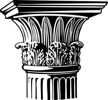 roman pillar: Column Illustration