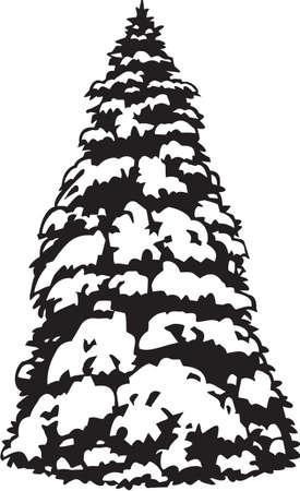 Snowy Fir Stock Vector - 13352064