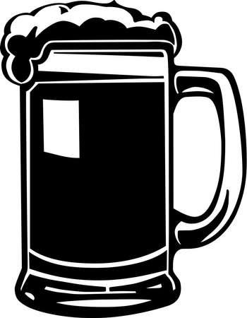 chope biere: Chope � bi�re Illustration