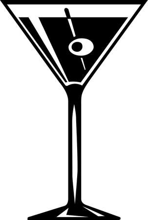 glass containers: Martini Cocktail Illustration