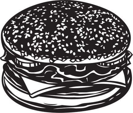 Hamburger Sandwich Illustration