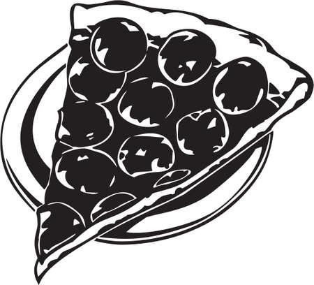 Pizza Slice Иллюстрация
