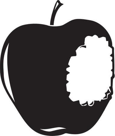 bitten: Manzana mordida Vectores
