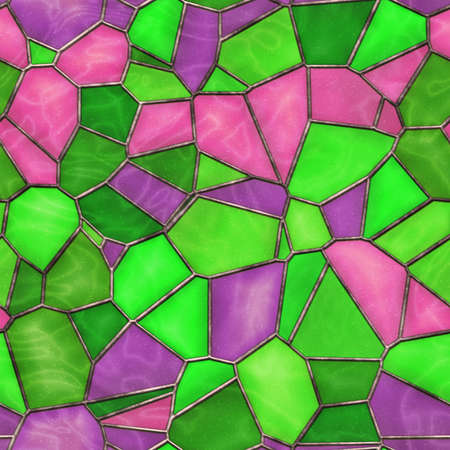 Stained Glass Seamless Texture Tile photo