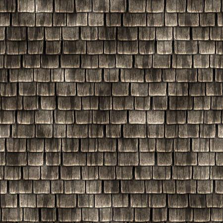 Wood Shingles Seamless Texture Tile