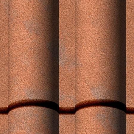 barrel tile: Spanish Tile Roofing Seamless Texture Tile