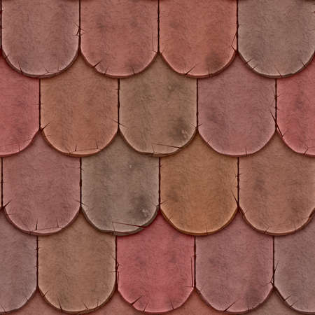 Clay Shingle Roofing Seamless Texture Tile Banque d'images