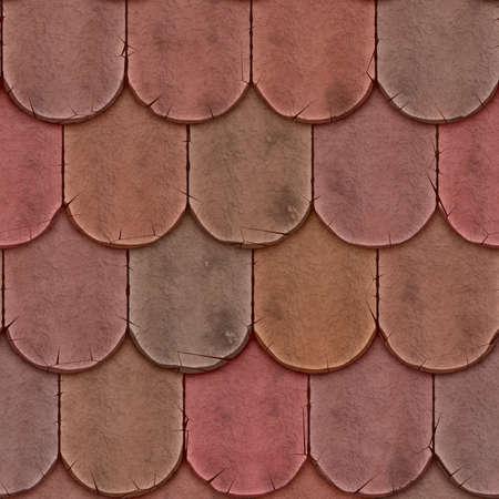 shingle: Clay Shingle Roofing Seamless Texture Tile Stock Photo