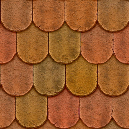 Clay Shingle Roofing Seamless Texture Tile Banco de Imagens