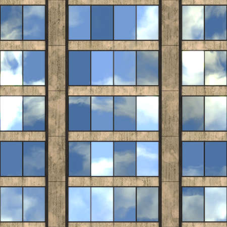 skyscraper: Office Building Seamless Texture Tile Stock Photo