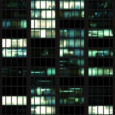 Immeuble de bureaux à carreaux texture transparente Nuit Banque d'images - 13948909