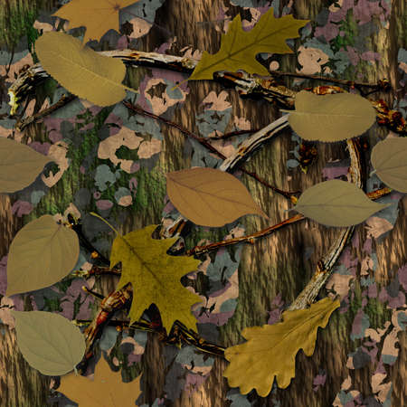 Natural Camouflage Seamless Texture Tile