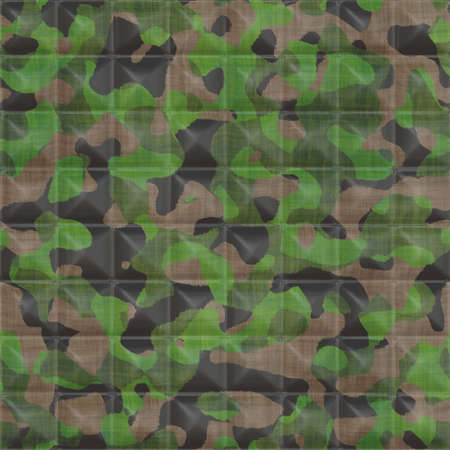 Quilted Camouflage Seamless Texture Tile photo