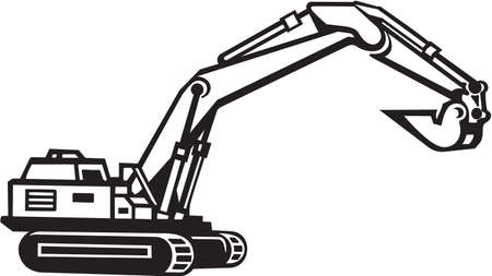 Backhoe Excavator Vinyl Ready Vector