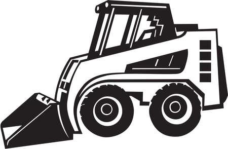 cargador frontal: Vinilo Pala cargadora frontal listo