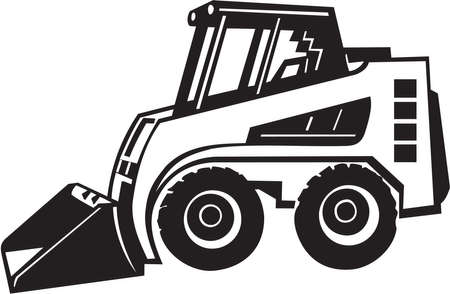 front loader: Vinilo Pala cargadora frontal listo
