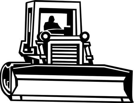 maquinaria pesada: Bulldozer Listas para vinilo