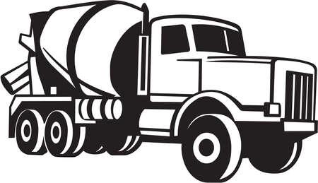cemento: Cami�n mezclador de cemento Listas para vinilo