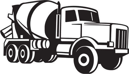 ciężarówka: Mikser Vinyl Cement Truck gotowy Ilustracja