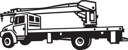 Crane Truck Vinyl Ready