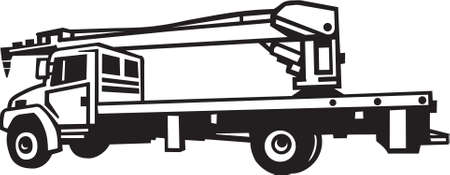 truck crane: Crane Truck Vinyl Ready