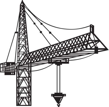 Crane Vinyl Ready  Stock Vector - 13981206