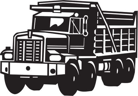 camion volteo: Vuelca cami�n de vinilo listo Vectores