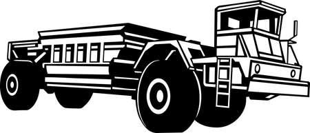 dump truck: Dump Truck Vinyl Ready Illustration