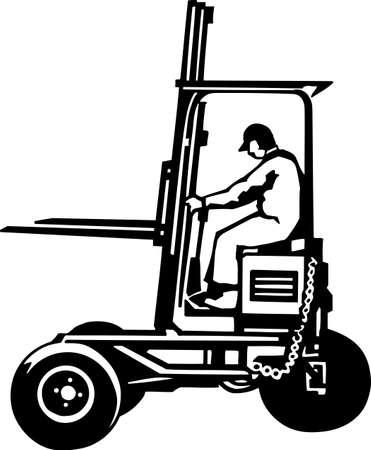 Forklift Vinyl Ready  Ilustracja