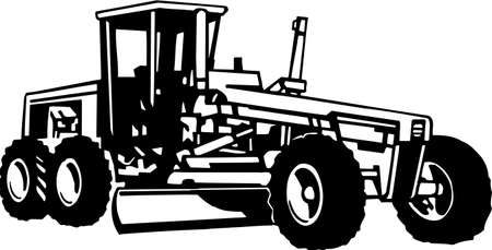 Road Grader Vinyl Ready  Stock Vector - 13981243