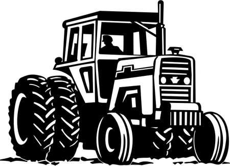 Tractor Listas para vinilo Ilustración de vector