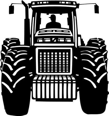 Tractor Vinyl Ready  Stock Vector - 13981283