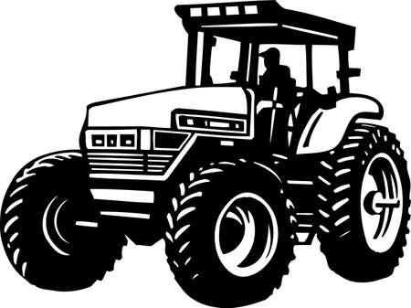 tractores: Tractor Listas para vinilo Vectores