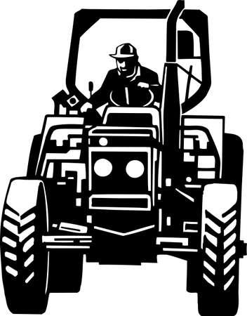 Tractor Vinyl Ready Stock Vector - 13981276