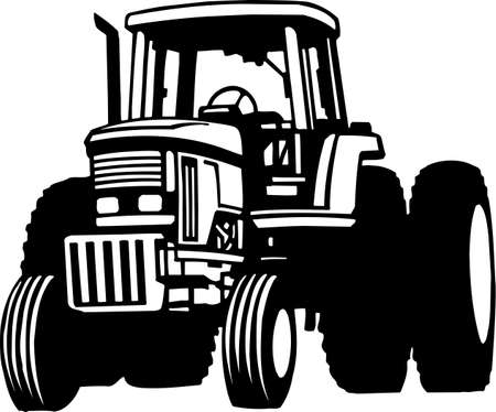 Tractor Vinyl Ready Stock Vector - 13981258