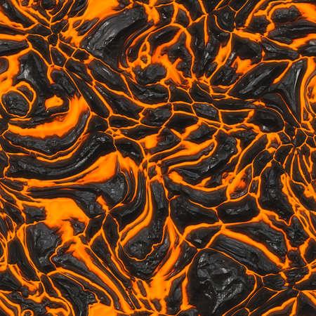 溶岩流のシームレスなテクスチャ タイル