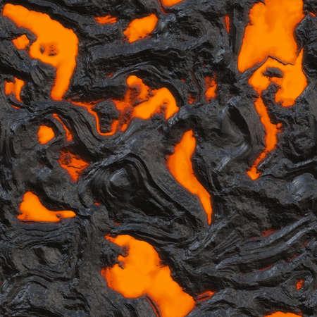 uitbarsting: Lava Flow naadloze textuur Tegel Stockfoto