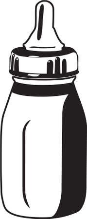 赤ちゃんボトル ビニール準備  イラスト・ベクター素材