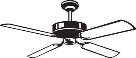 electric fan: Ceiling Fan Vinyl Ready Vector Illustration Illustration