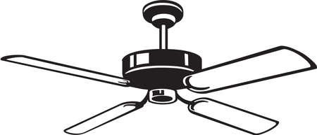 Ventilador de techo de vinilo Ilustración Vector Ready